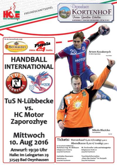 TuS N-Lübbecke vs. HC Motor Zaporozhye